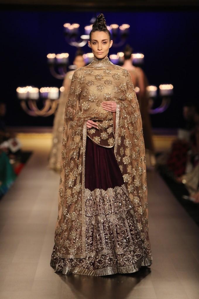 manish malhotra couture week india bridal indian lehenga gold collection maroon wear lehnga dresses designer picks icw sharara designs indianweddingsite