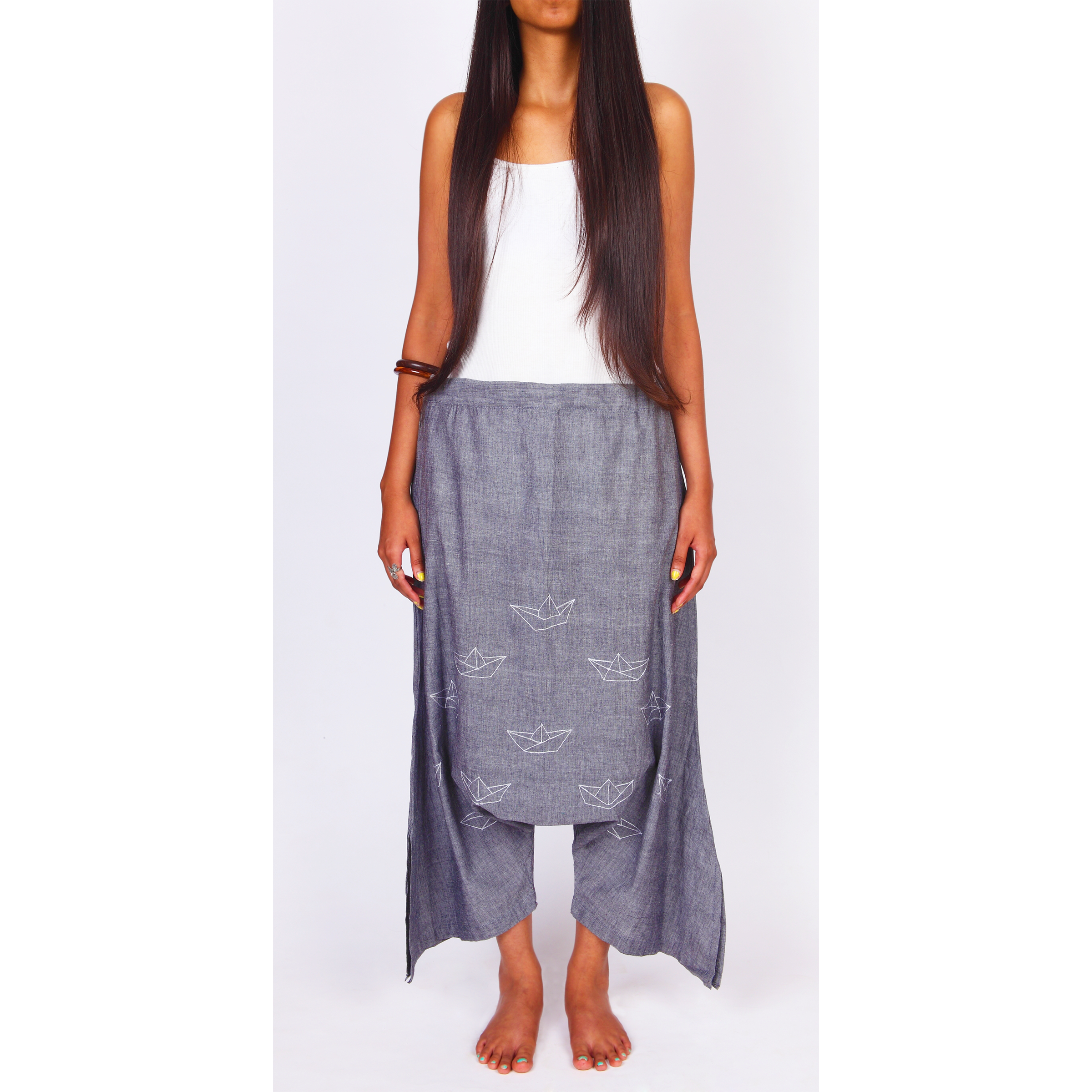 Floating Boat Pants by ROUKA