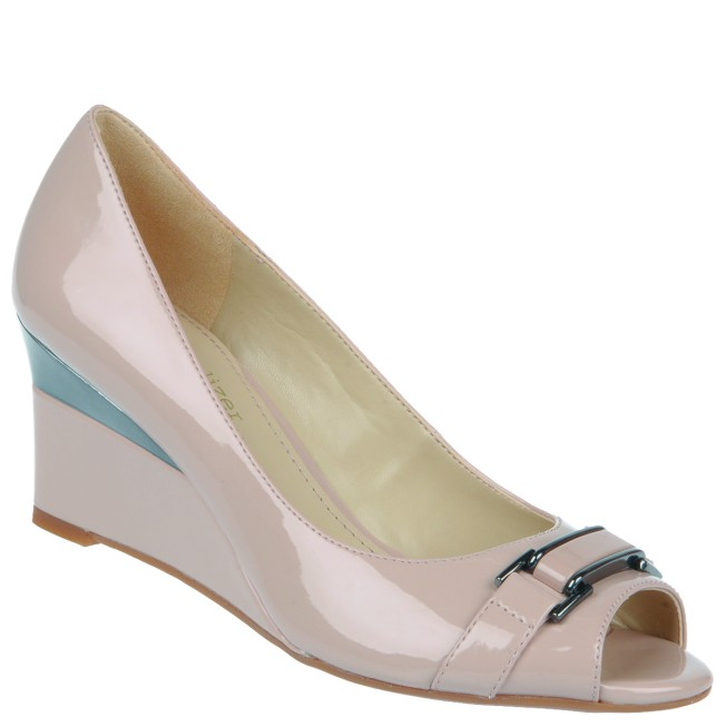 Naturalizer Peep Toe Wedges- Nude Rs. 4699