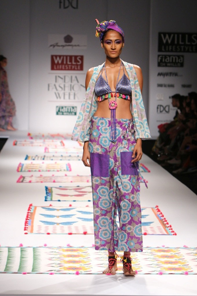 Anupamaa Dayal for Wills India Fashion Week Spring/Summer 2015