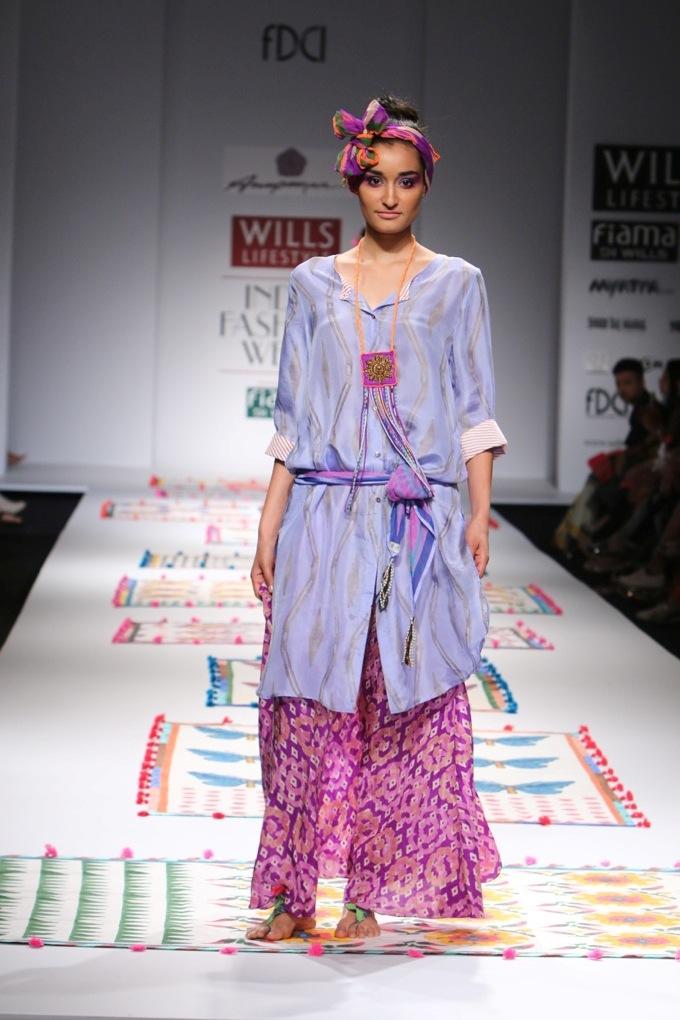 Anupamaa Dayal for Wills India Fashion Week Spring/Summer 2015