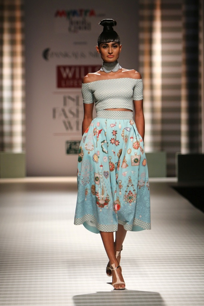 Pankaj and Nidhi for Wills India Fashion Week Spring/Summer 2015