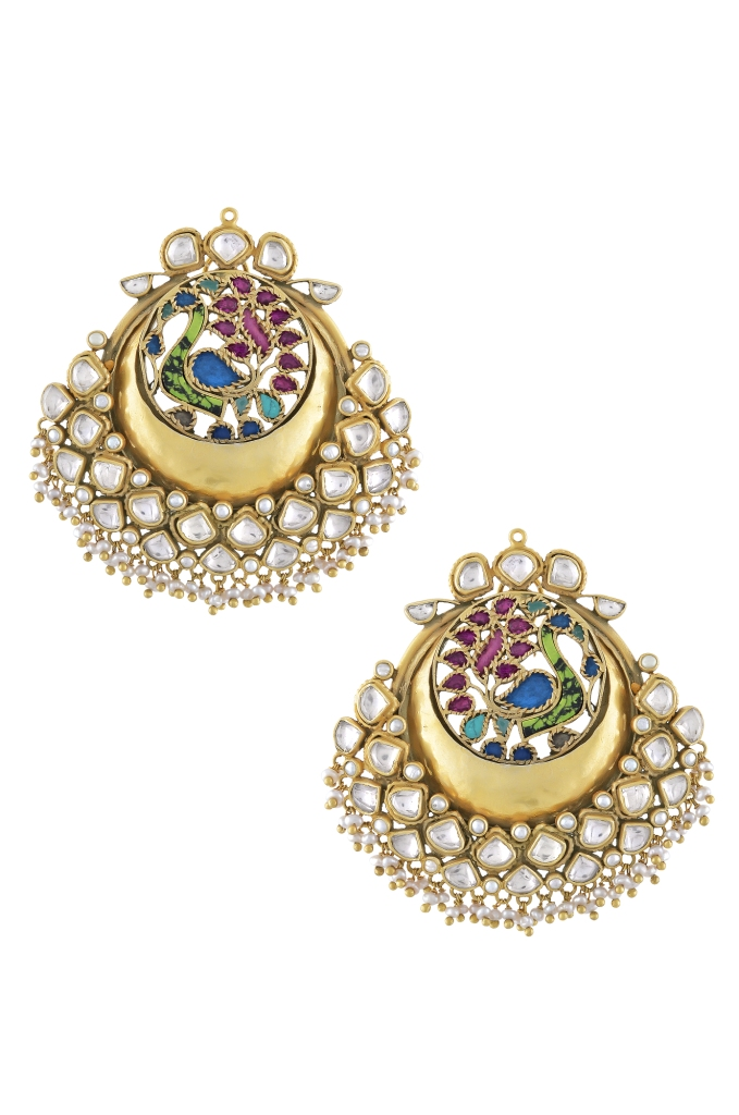 earrings beautiful cd amrapali er home flower pink enamel