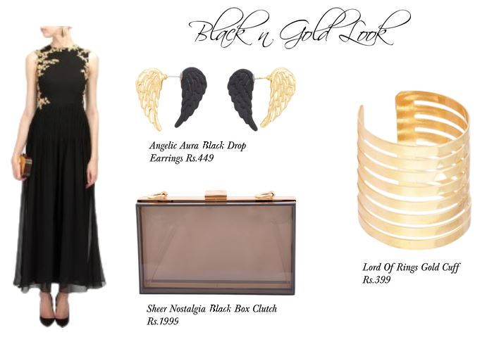 Black and Gold Look by Youshine
