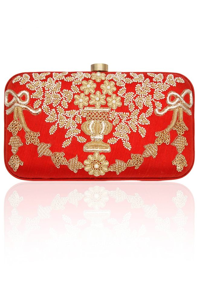 Red vase clutch by Lovetobag