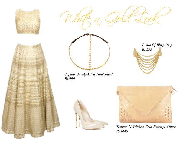 White and Gold Look by Youshine