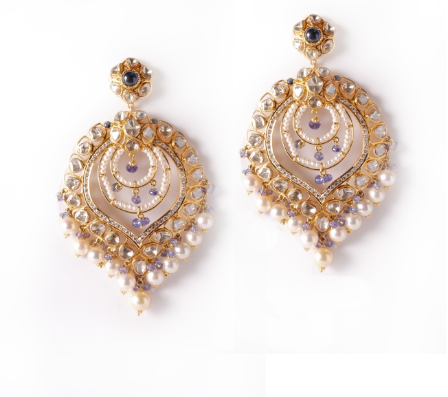 Chandbali earrings from RK Jewellers