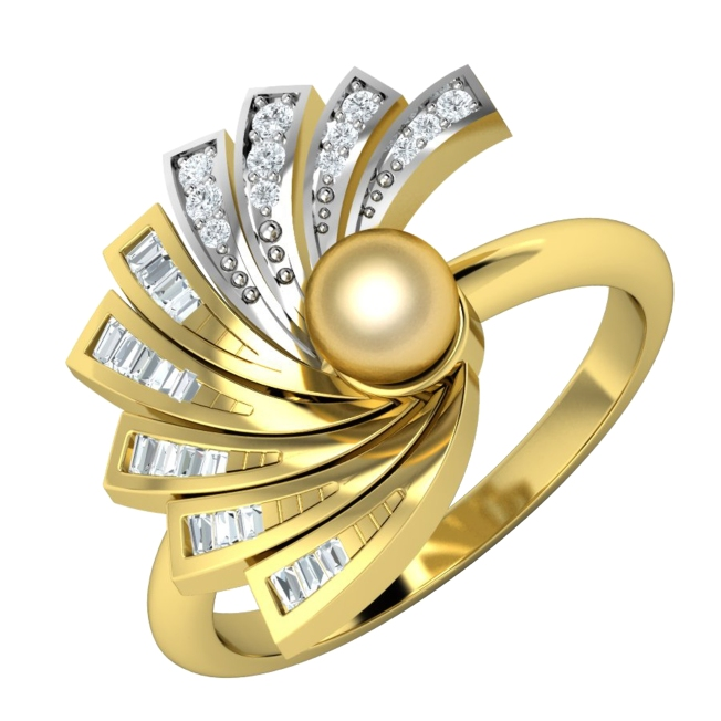 Japanese Fan-Style Diamond Ring by Payal Pratap at Velvetcase.com
