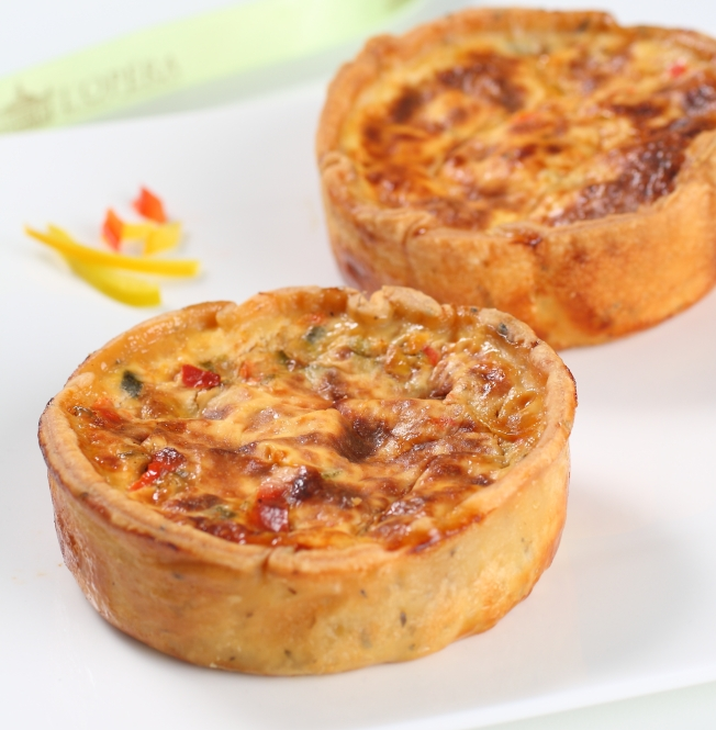 Vegetable Quiche at Salon de Thé