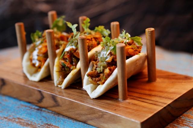Desi Kurchan Tacos- Pulled Kathal
