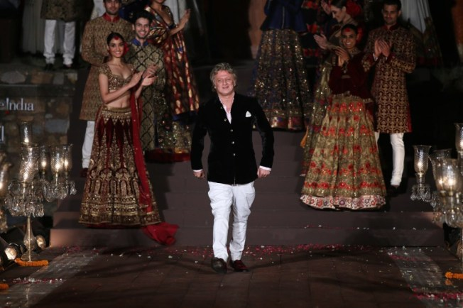Rohit Bal at the grand finale show for Wills India Fashion Week SS'15