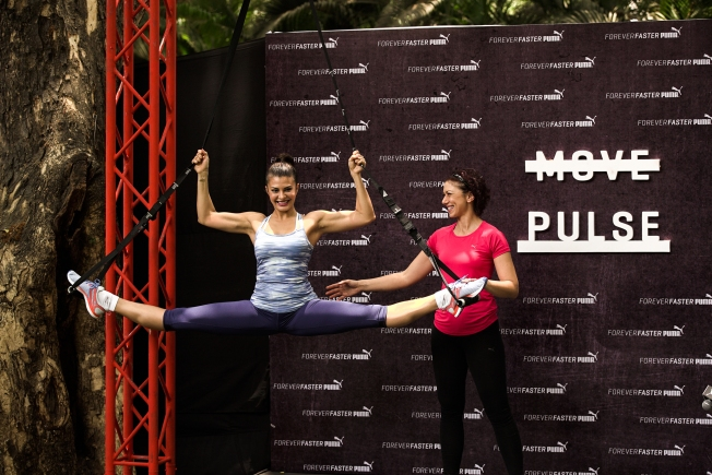 Puma Training Ambassador - Jacqueline Fernandez at the Launch of Puma's Dynamic Training Shoe for Women PULSE XT
